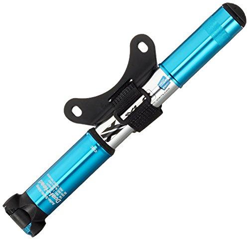 XLC Unisex– Erwachsene Luftpumpe und Minipumpe MTB PU-M02, Blau, Silber, One Size