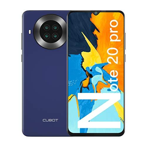 CUBOT Note 20 Pro Smartphone ohne Vertrag 6,5 Zoll HD + Display, Octa Core 8GB RAM + 128GB ROM, Android 10, 4200mAh Akku, 20MP + 12MP Quad Kamera, 4G Dual SIM, NFC, GPS, Face ID