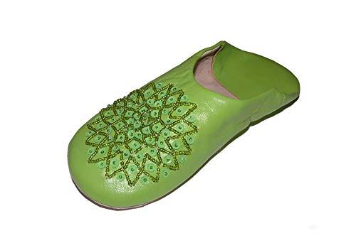 Marrakech Accessoires Orientalische Schuhe Babouche Hausschuhe Pantoffel Slipper aus Marokko - Damen - 905363-0040, Schuhgrösse:42