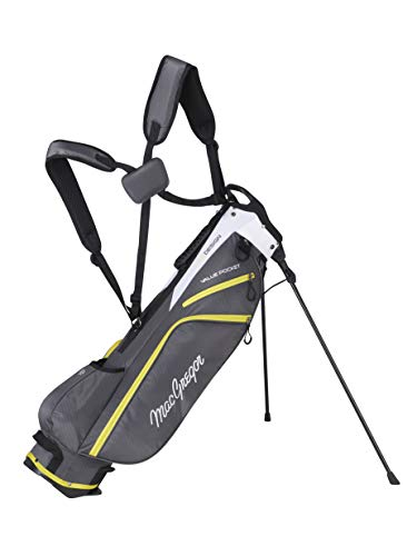 "MACGREGOR Unisex-Adult MACBAG138 Response ZT LITE 6.5\"" Inch Golf Club Sunday Bag, Charcoal, One Size"