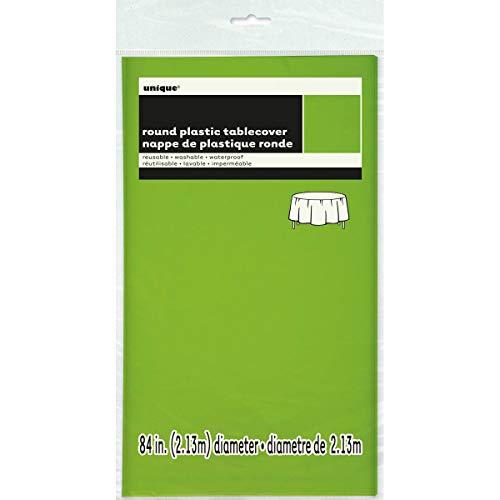 9oz Neon Green Paper Cups, 14 stuks Ronde kunststof tafelkleed 84