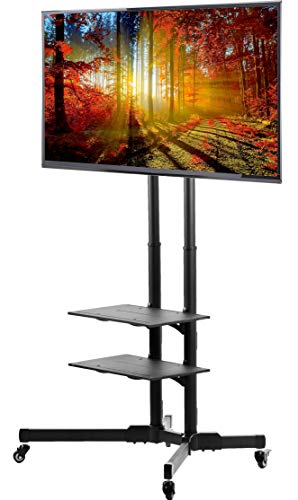 VIVO TV Cart for LCD LED Plasma Flat Panels Stand with Wheels Mobile fits 37' to 70' (STAND-TV01B)