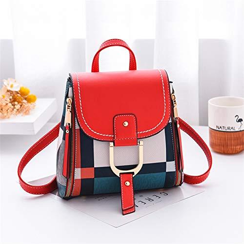 MAID Mochila de moda útil para mujer, con rejilla para mujer, ideal para llevar (color: rojo, tamaño: A)