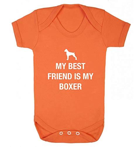 Flox Gilet créatif pour bébé Motif Best Friend Boxer - Orange - XS