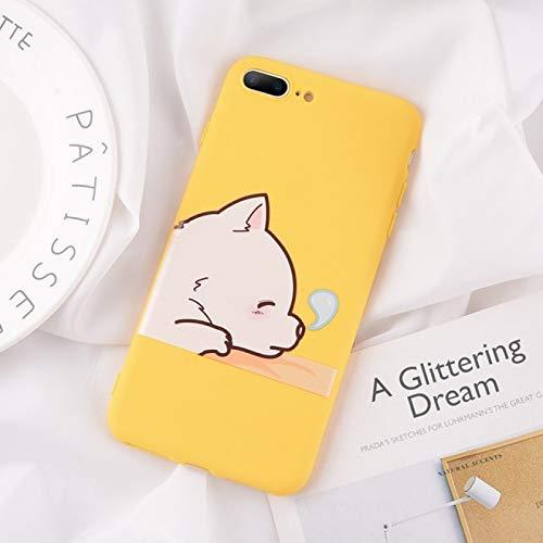EWUEJNK Funda de silicona suave para iPhone 11 X Xs Max Xr para iPhone 7, 8, 6 y 6S Plus, lindas fundas de dibujos animados, oso de dormir, para iPhone Xs