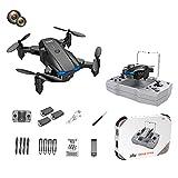F Fityle KY906 Mini Drone Plegable 4K WiFi Retorno de una tecla 360 Rolling Auto Rotación Altitud Hold 3 Modos de Velocidad Sensor de Gravedad Drones de - Cámara Dual Negra 3B