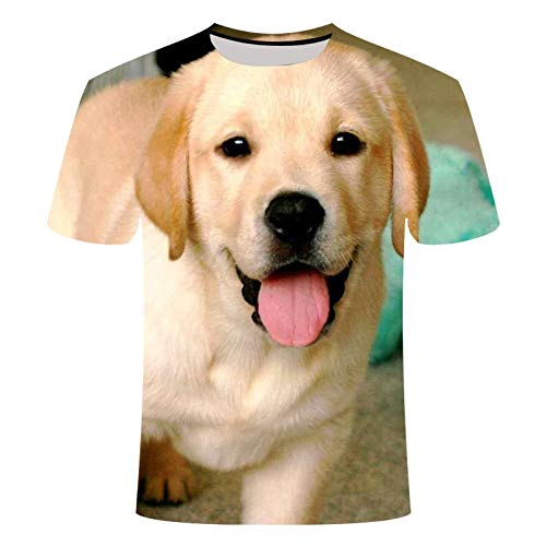 LKFTH 3D Printed Pet Dog T-Shirts Labrador Retriever Large Size T-Shirt Pattern Fashion Casual Personality Short Sleeve 4XL As Show G
