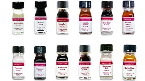 LorAnn SS Pack #3 of 12 Savory Flavors in 1 dram bottles (.0125 fl oz - 3.7ml) bottles
