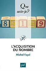 L'acquisition du nombre de Michel Fayol