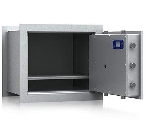 SafeHero Wandtresor Klasse 1 VDs EN 1143-1 Secureo Strix Pro 2 | H430xB490xT387 | Schlüsselschloss | VDs Zertifiziert | versteckbare, Flache Vorderseite & umlaufender Feuerfalz