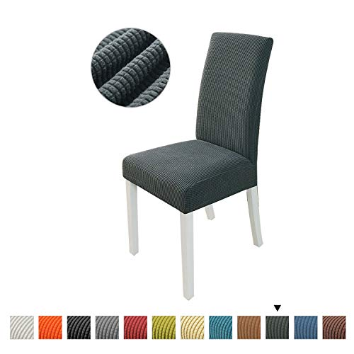 PETCUTE Fundas para sillas de Comedor elásticas Fundas para sillas Respaldo Alto Fundas para sillas…
