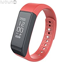 iWOWN i5 Plus Smart Sports Bracelet Bluetooth 4.0 Multifuctioal IP65 Water Waterproof Sleep Monitor with OLED Touch Screen for Android/iOS-Red