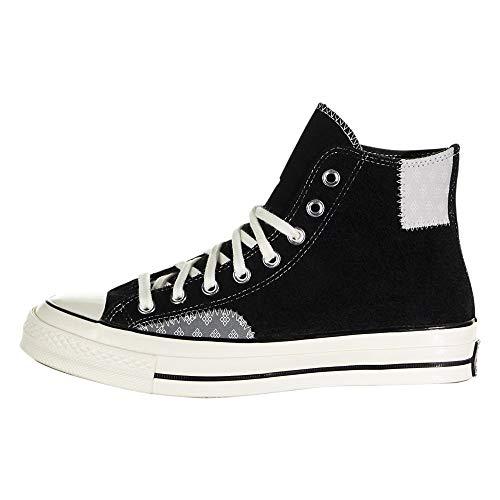 Converse Zapatillas Chuck 70 Twisted Prep Patchwork-High Top para hombre, negro (Negro/Ratón/Garganta), 43 EU