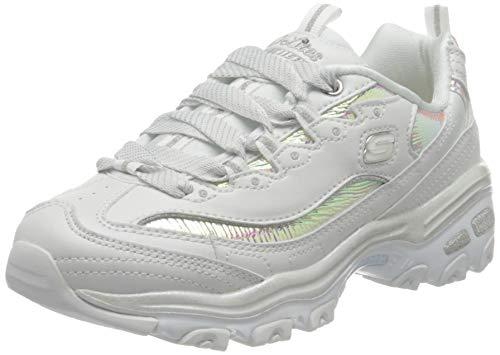 Skechers Damen D'lites-Flash Tonic Sneaker, White, 37.5 EU