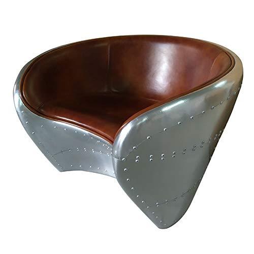 Silla Dental de Cuero de Aluminio Silla Retro Americana Remache Silla de negociación Metal Roman Wall Silla Adecuada para Silla de recepción de Silla de negociación