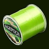 45532rr Japanische Material Monofil Karpfen Angelschnur 8.0# 0.50mm 18.4kg Tension 500 Extra Strong Imported Rohseide Nylon Angelschnur (Grass Gelb) (Color : Color1)