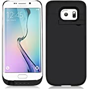 Mbuynow 4500mAh External Battery Power Backup Charger Case Cover for Samsung Galaxy S6 Edge