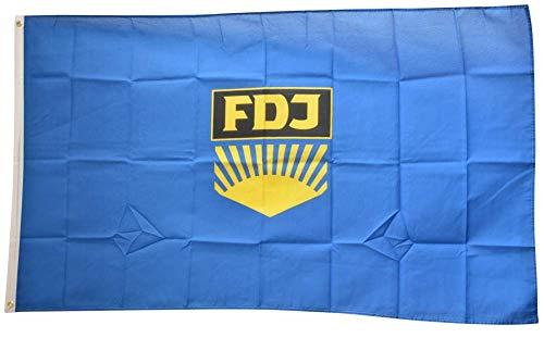 Flaggenfritze® Flagge/Fahne Deutschland DDR FDJ Freie Deutsche Jugend - 90 x 150 cm, 115 gr/m²