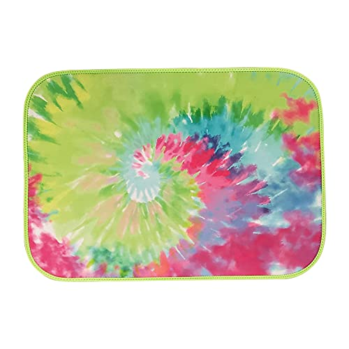 The Coral Palms Swimsuit Saver Roll-up Neoprene Mat Tie Dye