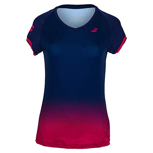 Babolat Compete Cap Sleeve Top W Camiseta, Mujer, Estate Blue/Vivacious Red, XO