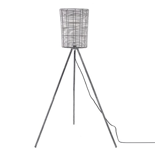 DESIGN DELIGHTS draad staande lamp Fuego | 150 cm, 1x E27, draadscherm | Industriële metalen vloerlamp, driepoot lamp