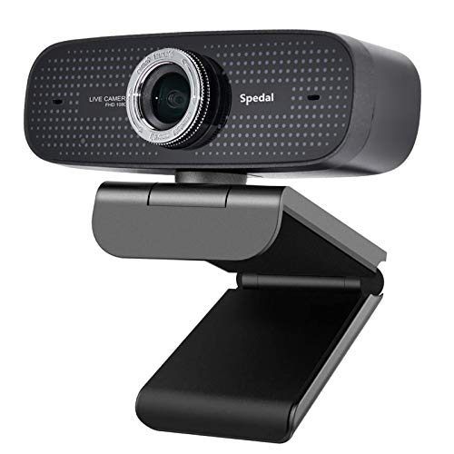 Webcam Streaming Xbox one YouTube OBS Twitch Compatible Skype Webcam Full HD 1080P PC Camera Built-in Dual Microphones Computer Camera Compatible for Mac Windows 10/8/7