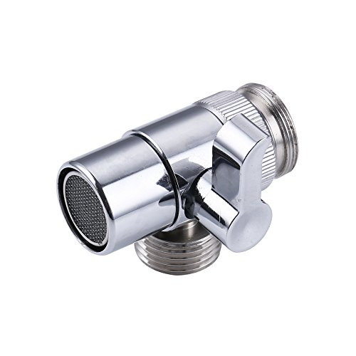 Weirun BRASS Diverter for Kitchen or Bathroom Sink Faucet Replacement Part M22 X M24 Connector for Handheld Bidet Hand Sprayer, Polished Chrome
