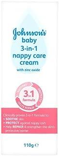 Johnson's Baby 3-in-1 Nappy Care Cream, 110g