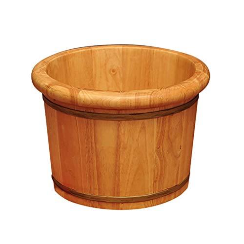 Baignoire de pied Sauna Wooden Bucket,Spa, Sauna,Soak Footbath Basin,Handmade Massage Bucket Foot Bath,Foot Spa Wash Bucket Feet Bath Basin Tub (Color : A)