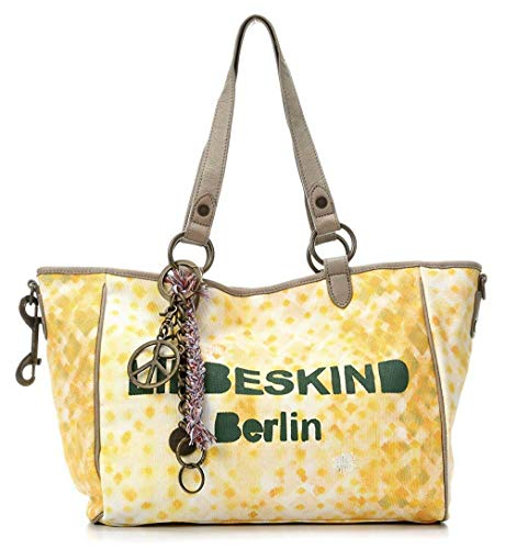 Liebeskind Berlin Women's Mika Canvas Leather Trim Shoulder Bag (Yellow)