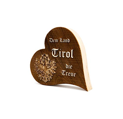 Zirbenherz Dem Land Tirol die Treue 3D Relief 12cm