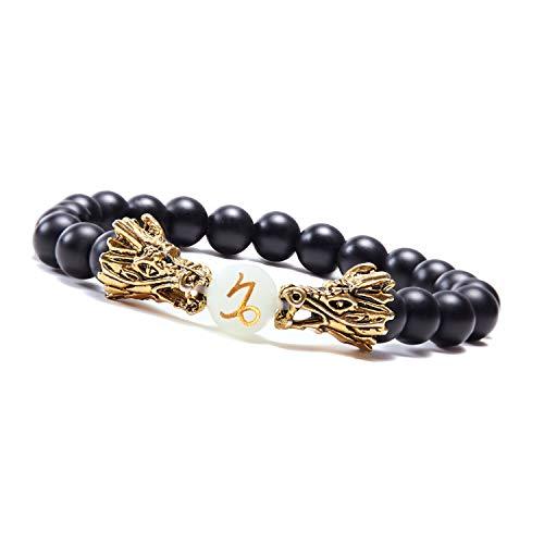 sedmart Women Luminous Dragon Bracelet Boys Bangle Zodiac Bracelet Jewelry Bracelet for Men Beaded...