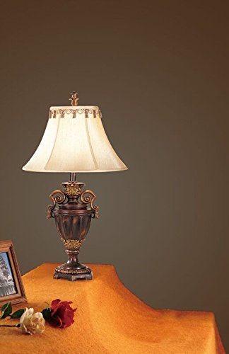 """Poundex PDEX-F5204 Bobkona Collections Resin Table Lamp, Set of 2, 27"""" x 32"""" x 25"""", Multi"""