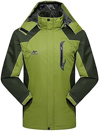 DYF Les Femmes Hommes Down veste Manteau Grande Taille Manches Longues Chapeau Chaud Fermeture éclair,M-Vert,XXXL