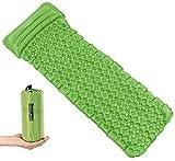 Semptec Urban Survival Technology Campingmatratze: Outdoor-Luftmatratze mit integriertem Kopfkissen, aufblasbar, grün (Isomatten-Luftmatratzen)