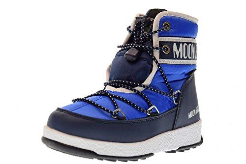 Moon Boot Jungen Jr Boy Mid Wp Schneestiefel, Blau (Blu 002), 31 EU
