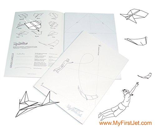MyFirstJet Dubbelpak papieren vlieger vouwhandleiding & notitieblok 100 vellen knutselboek Origami