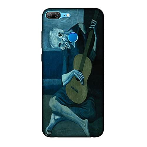 Funda 9 Lite Carcasa Compatible con Honor 9 Lite Pablo Picasso EL Viejo Guitarrista Ciego/TPU Suave Gel de Silicona/Teléfono Hard Snap en Antideslizante Antideslizante Anti-rasguño Resistente a