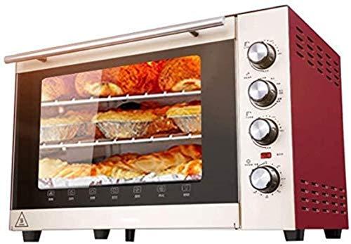 Forno mini 70L con impostazione della temperatura 100-250 ℃ e 0-120 minuti Timer, 1500 W Forno a tre strati Forno a tre strati Forno per forno rosso