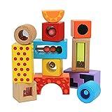 Amagogo 12x Rompecabezas de Bloques de Madera con Forma geométrica, Juguetes educativos preescolares para niños pequeños, bebés y niñas