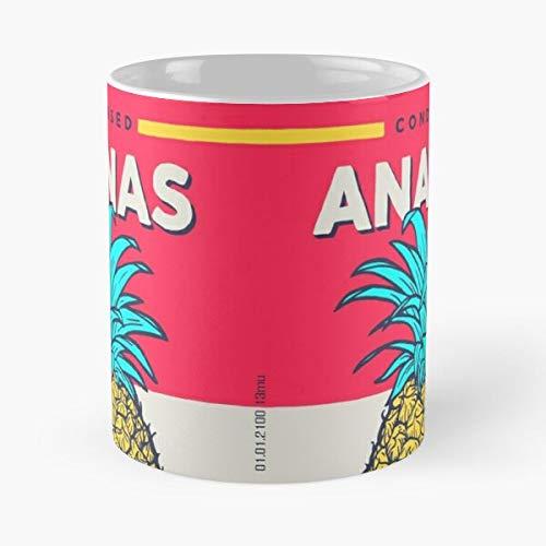 Ananas 13Mu Anning Can Condensed Pineapple Taza de café con Leche 11 oz