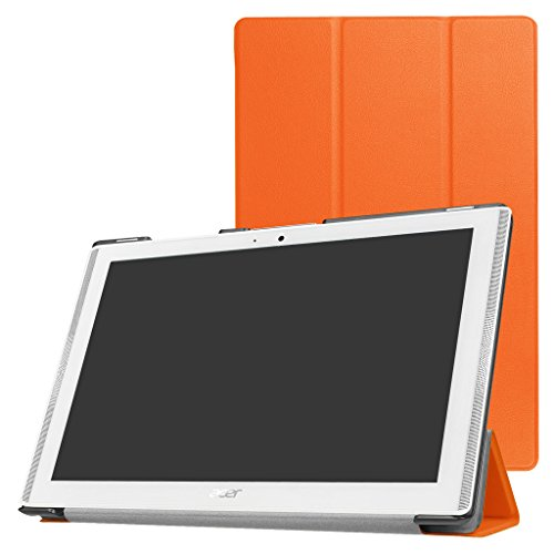 Mama Mouth Acer Iconia One 10 B3-A40 Slim Shell Case, Ultra Lightweight PU Leather Standing Cover For 10.1' Acer Iconia One 10 B3-A40 Android Tablet PC,Orange
