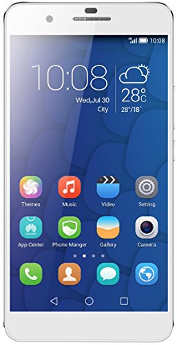 HONOR 6 Plus 4G Dual SIM-Free Smartphone (5.5-Inch Full HD Screen, 8 MP Dual Rear Camera, 3 GB RAM, Android) - White, [Importado de Reino Unido]