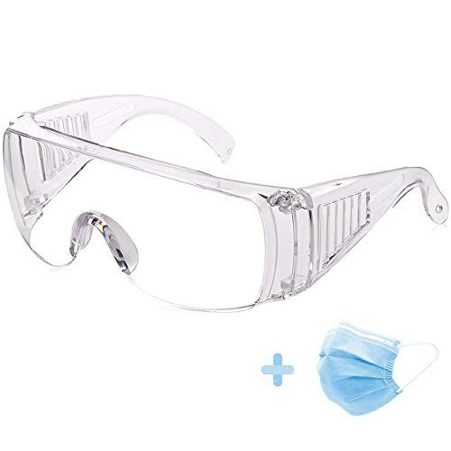 ASEOK Schutzbrille, Schutzbrillen,Schutzbrille Kristallklares und beschlagfreies Design - Hohe Schlagfestigkeit - Perfekter Augenschutz für Labor-, Chemikalien- und Arbeitssicherheit, Transparent
