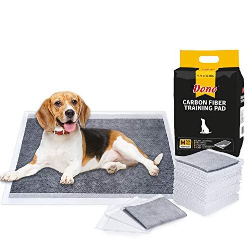 Dono Pañales Almohadillas de Entrenamiento para Mascotas Absorbente, para Inodoro, 4 Tamaños (M- 50 Count)
