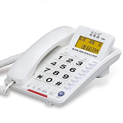 NYDZDM Teléfono con Cable - Escritorio telefónico con Altavoz, botón Grande Teléfono con Cable Escritorio/Pared Montado en/con contestador automático