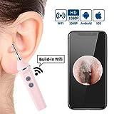 Otoscopio Camara 2.0MP inalámbrica otoscopio, 3.9mm lente HD 1080P de WiFi del oído herramienta de limpieza del endoscopio de la cámara removedor de la cerumen del oído removedor de cera del oído kit