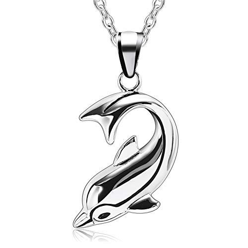 Beydodo uomo collane in acciaio INOX delfini Defencor of love ciondolo collana San Valentino e Acciaio inossidabile, colore: Silver(men), cod. BEYDODO62PH722