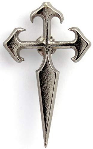 Broche Croix de Saint-Jacques en argent