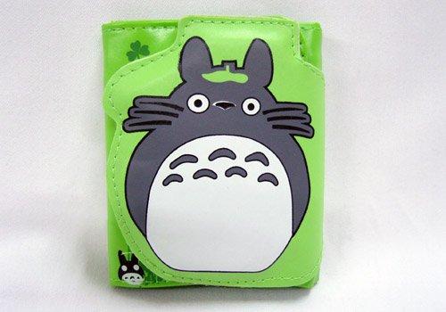 Totoro: Small Green Totoro Dust Bunny Clasp Wallet